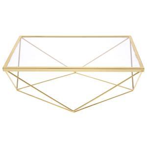 Χρυσή μεταλική βάση με γυαλί