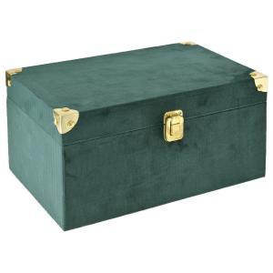 Σμαραγδί βελούδινο ξύλινο κουτί