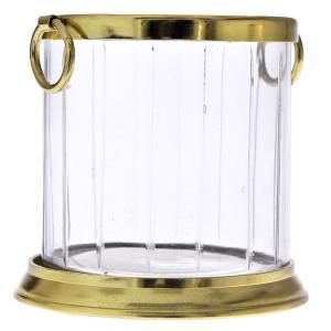 Κηροπήγιο με χρυσή αλουμινένια βάση 17 εκατοστά
