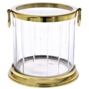 Κηροπήγιο με χρυσή αλουμινένια βάση