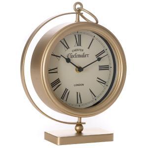 Επιτραπέζιο ρολόι μεταλικό χρυσό