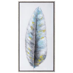Πίνακας γκρί-χρυσό φτερό
