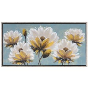 Πίνακας με κρεμ -καφέ λουλούδια