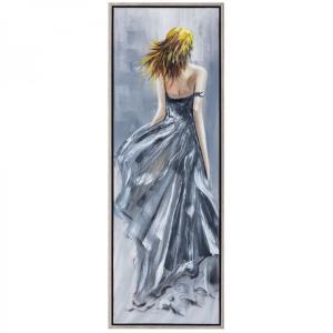Πίνακας γυναίκα με γκρί φόρεμα