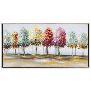 Πίνακας με χρωματιστά δέντρα