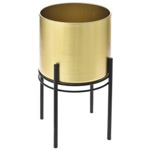 Χρυσό μεταλικό κασπώ σε μαύρη μεταλική βάση