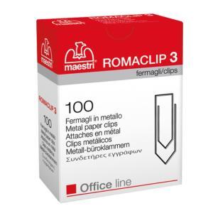 Συνδετήρες ΝΟ3 σετ 100 τεμαχίων Romaclip