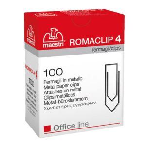 Συνδετήρες ΝΟ4 σετ 100 τεμαχίων Romaclip