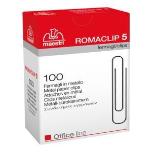 Συνδετήρες ΝΟ5 σετ 100 τεμαχίων Romaclip