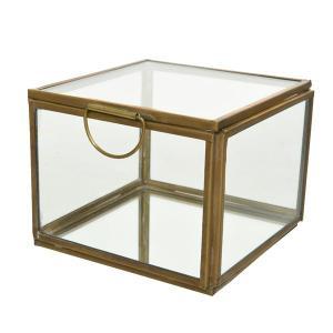 Μπιζουτιέρα γυάλινη τετράγωνη