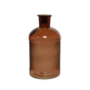 Κηροπήγιο γυάλινο σε σχήμα μπουκάλι