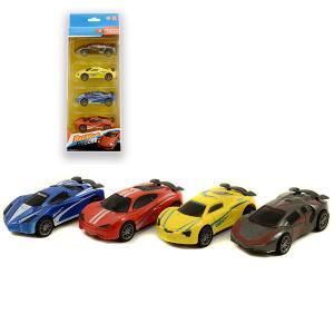 Αυτοκινητάκια μεταλικά σετ 4 τεμαχίων