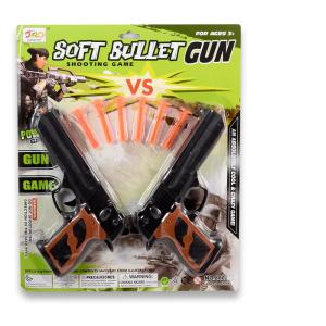 Δύο πιστόλια σε καρτέλα πλαστικό παιχνίδι