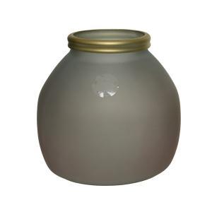 Βάζο από ανακυκλωμένο γυαλί με καπάκι