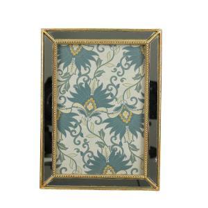Φωτογραφοθήκη χρυσή κορνίζα καθρέπτης 10x15 εκατοστά