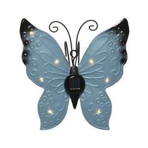 Ηλιακή λάμπα πεταλούδα μεταλική