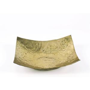 Σφυρήλατη Πιατέλα Αλουμινίου Χρυσή μικρή