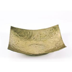 Σφυρήλατη Πιατέλα Αλουμινίου Χρυσή