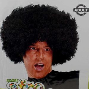 Αποκριάτικη περούκα αφάνα μαύρη