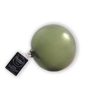 Χριστουγεννιάτικη μπάλα πράσινη 10 εκατοστά σετ 4 τεμαχίων