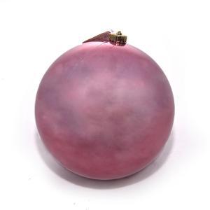 Χριστουγεννιάτικη μπάλα βελούδινο ροζ χρώματος 14 εκατοστών
