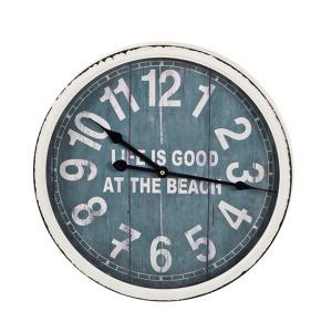 Μεταλλικό ρολόι τοιχου beach bar style