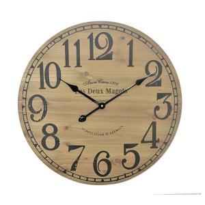 Ρολόι τοίχου MDF σε απομίμηση ξύλου