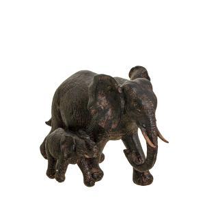 Διακοσμητικός ελέφαντας με παιδάκι 23χ15 εκατοστά