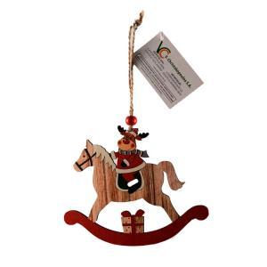 Χριστουγεννιάτικο στολίδι ξύλινο αλογάκι τάρανδος