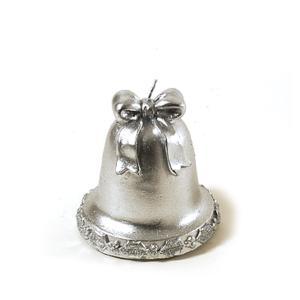 Κερί Καμπάνα 9cm Ασημί