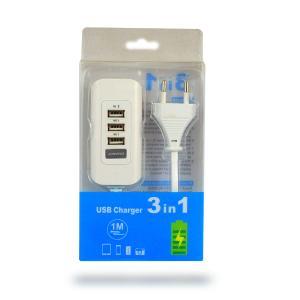 Φορτιστής USB 3 σε 1