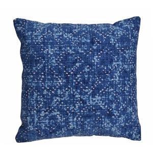 Μαξιλάρι απο χοντρό cotton indigo μπλε print 45χ45 εκατοστά