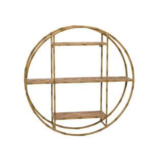 Ραφιέρα με τριπλό στρογγυλό μεταλ.ράφι σχ.Bamboo