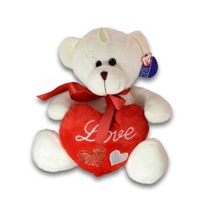 Αρκουδάκι λούτρινο καρδία 24 εκατοστά