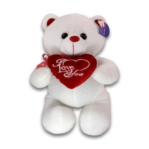 Αρκουδάκι καρδία άσπρο