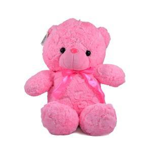 Αρκουδάκι λούτρινο ροζ μπλε με κασκόλ