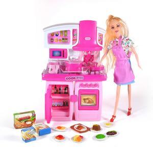 Κουζίνα μπαταρίας ήχος φως με κούκλα και αξεσουάρ