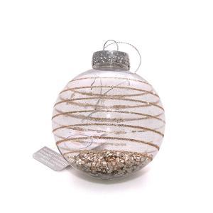 Χριστουγεννιάτικη μπάλα με λεπτή χρυσό glitter γραμμή