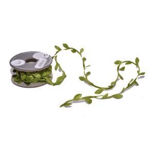 Χριστουγεννιάτικη κορδέλα υφασμάτινη με πράσινα φύλλα