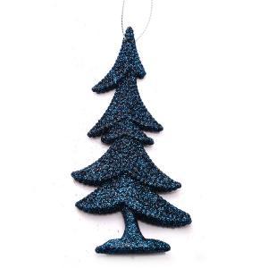 Χριστουγεννιάτικο στολίδι δεντράκι με glitter κρεμαστό