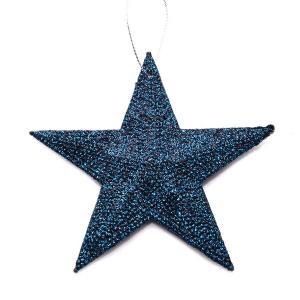 Χριστουγεννιάτικο στολίδι αστέρι με glitter κρεμαστό