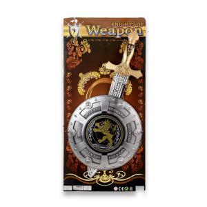 Σπαθί & ασπίδα σε καρτέλα πλαστικό παιχνίδι