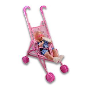Καροτσάκι πλαστικό με κούκλα μωρό