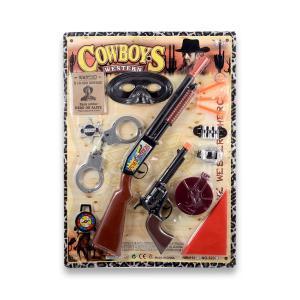 Σετ cowboy σε καρτέλα πλαστικό παιχνίδι