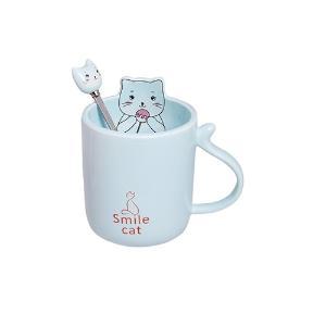Κούπα με κουταλάκι Happy Cat