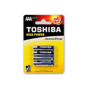 Μπαταρίες αλκαλικές Toshiba mini min AAA 4 τεμαχίων