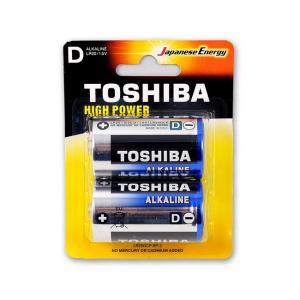 Μπαταρίες αλκαλικές Toshiba μεγάλες 2 τεμαχίων