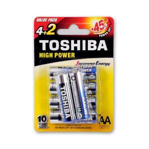 Μπαταρίες αλκαλικές Toshiba mini ΑΑ 4 + 2 τεμάχια