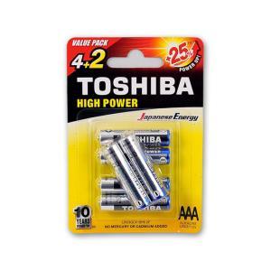 Μπαταρίες αλκαλικές Toshiba mini mini ΑΑΑ 4 +2 τεμάχια