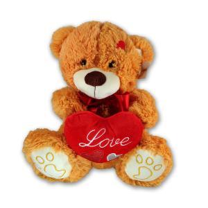 Λούτρινο αρκουδάκι καρδιά 30 εκατοστά